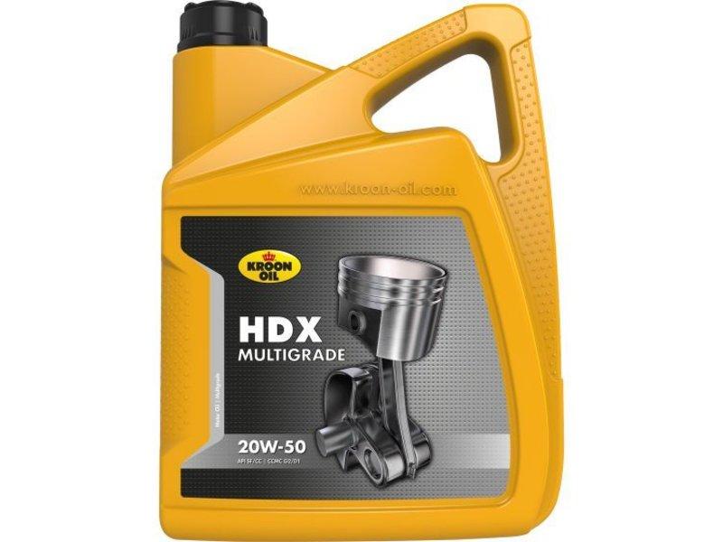 Kroon Oil Motorolie HDX 20W50, 5 ltr