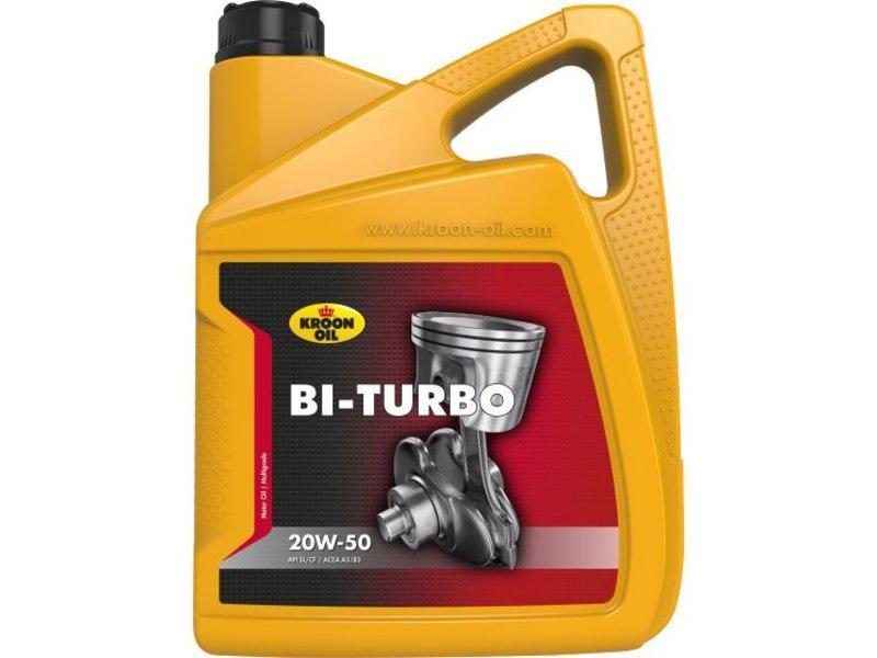 Kroon Oil Motorolie Bi-Turbo 20W50, doos, 4 x 5 ltr flacon can