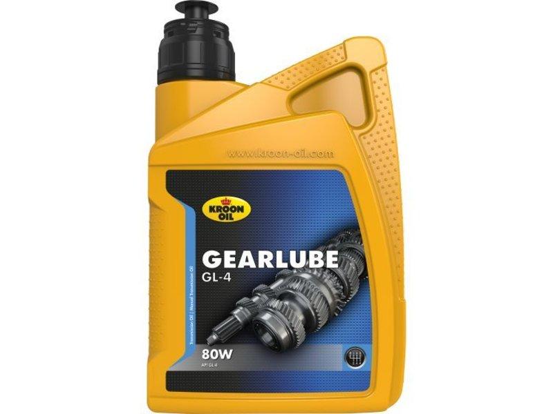 Kroon Oil 80W versnellingsbakolie Gearlube GL-4, 1 liter flacon