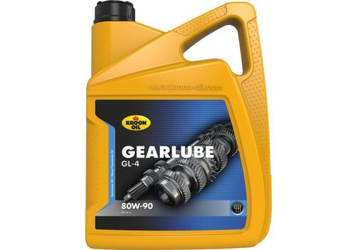 Kroon Oil Gearlube GL-4 80W-90 - Versnellingsbakolie, 5 lt