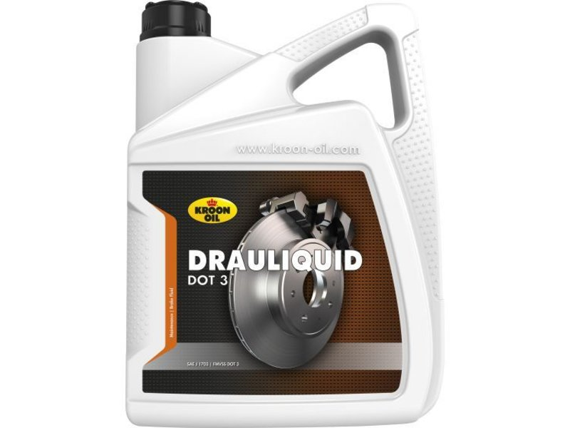 Kroon Oil Drauliquid DOT 3 - Remvloeistof, 4 x 5 lt