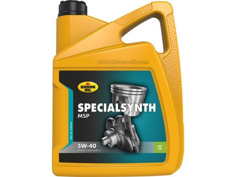 Kroon Oil Motorolie Specialsynth MSP 5W40, 5 ltr