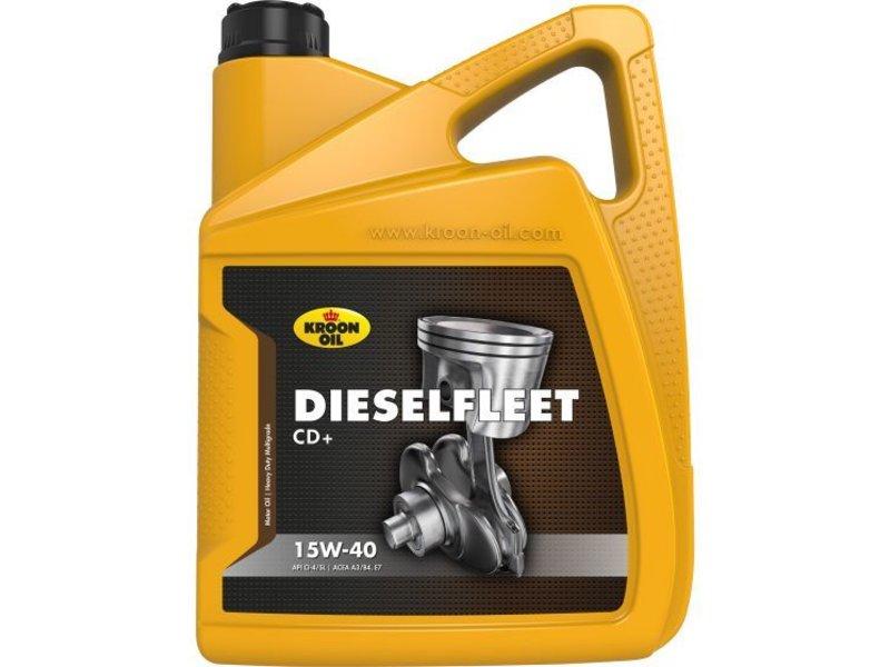 Kroon Oil 15W-40 Dieselfleet CD+ heavy duty motorolie, 4 x 5 lt can