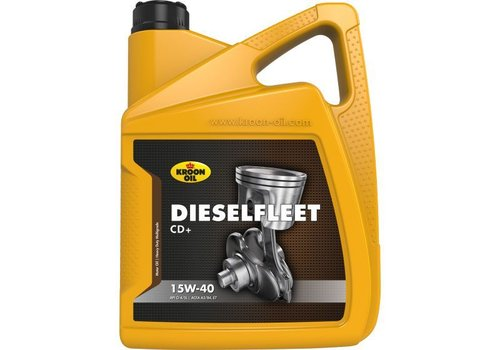 Kroon Oil 15W-40 Dieselfleet CD+ heavy duty motorolie, 5 liter