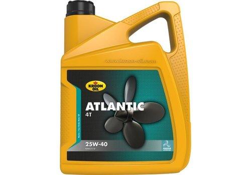 Kroon Oil Atlantic 4T 25W-40 - Buitenboord- en inboard motorolie, 5 lt