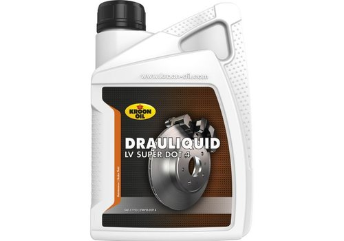 Kroon Oil Drauliquid LV Super DOT 4 - Remvloeistof, 1 lt