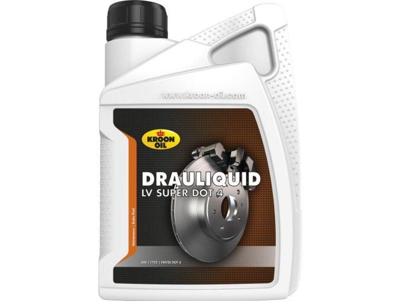 Kroon Oil Drauliquid LV Super DOT 4 - Remvloeistof, 12 x 1 lt