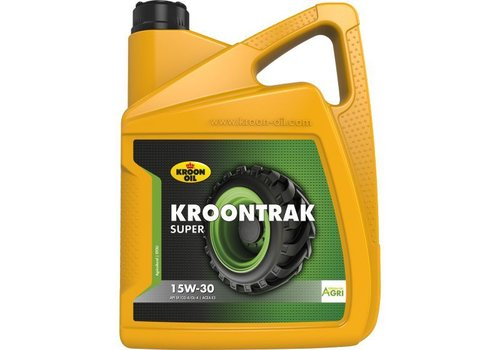 Kroon Oil Kroontrak Super 15W-30 - Super tractorolie, 4 x 5 lt