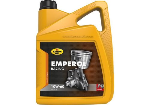 Kroon Oil Motorolie Emperol Racing 10W60, doos, 4 x 5 ltr flacon can