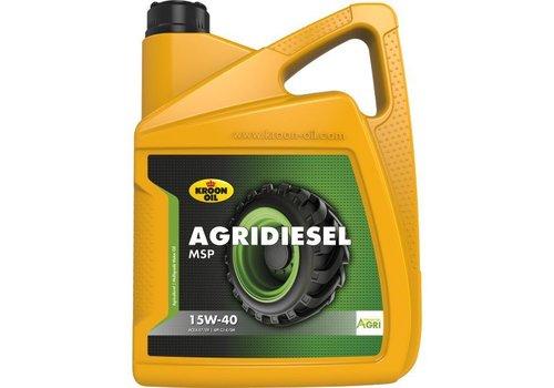 Kroon Oil Agridiesel MSP 15W-40 - Tractorolie, 5 lt