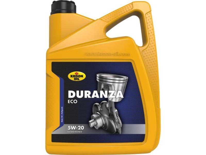 Kroon Oil Motorolie Duranza ECO 5W20, doos 4 x 5 ltr flacon can