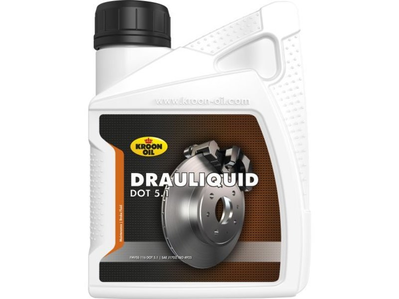 Kroon Oil Drauliquid DOT 5.1 - Remvloeistof, 500 ml