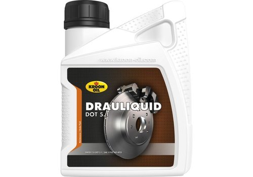 Kroon Oil Drauliquid DOT 5.1 - Remvloeistof, 12 x 500 ml