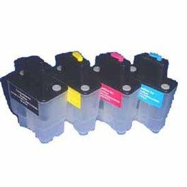 Brother LC900-LC950 Hervulbare Cartridge, standaard capaciteit 4 stuks