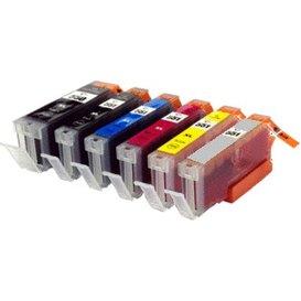 Canon CLI551/PGI550 Set Compatible 6 stuks met chip