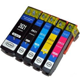 Epson T2621-T2631-T2634 compatible inktpatronen 26XL set van 5 stuks