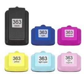 HP 363 compatible inktpatronen XXL set van 6 inktpatronen