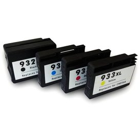 HP 932XL / HP933XL compatible inktpatronen XL Set 4 stuks.