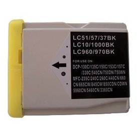 Brother LC1000/LC970 compatible inktpatroon zwart 38 ml XXL