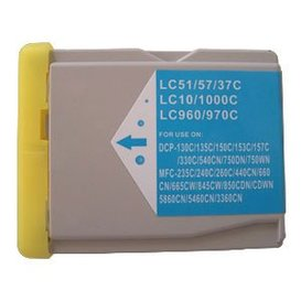 Brother LC1000/LC970 compatible inktpatroon cyaan 30 ml XXL