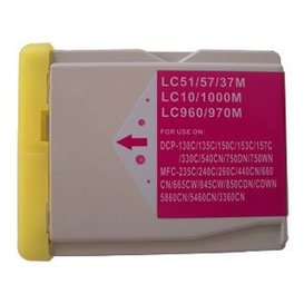 Brother LC1000/LC970 compatible inktpatroon magenta 30 ml XXL