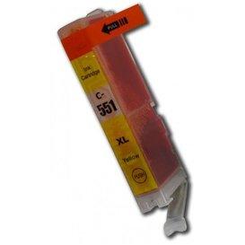 Canon CLI-551Y compatible inktpatroon geel 11 ml