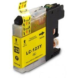 Brother LC123 compatible inktpatroon geel 10 ml