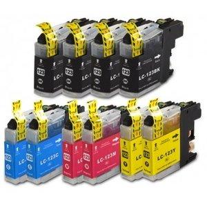 Brother LC123 compatible inktpatronen Set 10 stuks