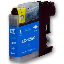 Brother LC125 compatible inktpatroon cyaan 15 ml
