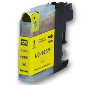 Brother LC125 compatible inktpatroon geel 15 ml