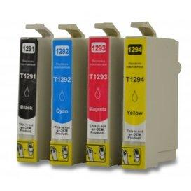 Epson T1291-T1294 compatible inktpatronen set van 4 stuks