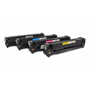 HP Toners Huismerk 125A, Set 4 stuks CB540A t/m CB543A