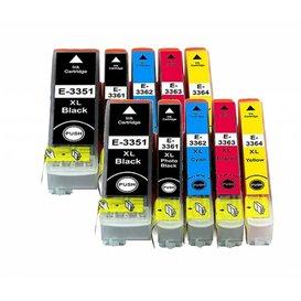 Epson T3351-T3364 Huismerk inktpatronen 33XL set van 10 stuks