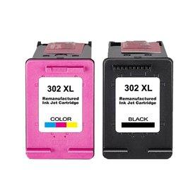 HP Huismerk set inktpatronen HP302XL Kleur en Zwart