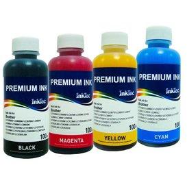 Brother Universele Inktec Dye inkt 100 ml. flacon set van 4 kleuren
