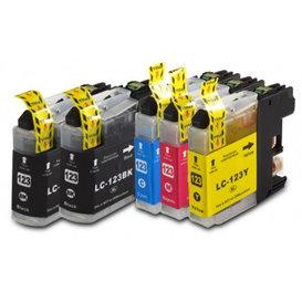 Brother LC123 compatible inktpatronen Set 5 stuks