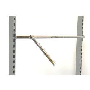 waterval haak tbv dwarsstang lengte 40cm met 9 pins verchroomd