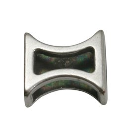 jolie Ls leerschuiver zandloper 10mm zilverkleur