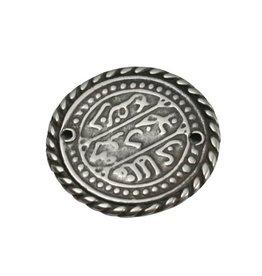 CDQ Keltische munt 27mm zilverkleur