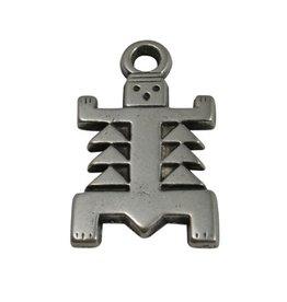 CDQ Azteken figuurtje zilverkleur