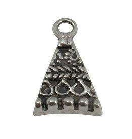 CDQ Hangertje driehoek  28x16mm zilverkleur