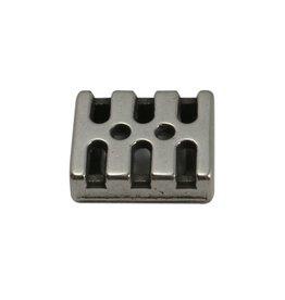 jolie Ls leerschuiver 10mm modern zilverkleur