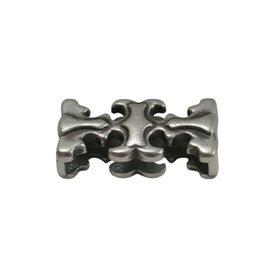CDQ Ls leerschuiver sierlijk 20x3mm zilverkleur