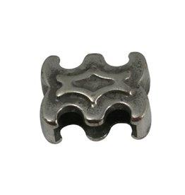 CDQ Ls leerschuiver sier 10mm zilverkleur