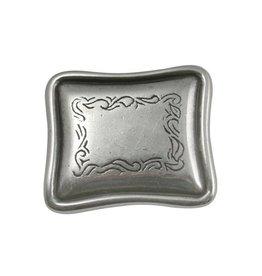 CDQ Inslag western langwerpig zilverkleur