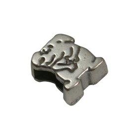 CDQ Ls leerschuiver 6mm hondje zilver