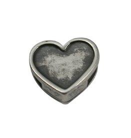 jolie Ls leerschuiver hart 6mm zilver
