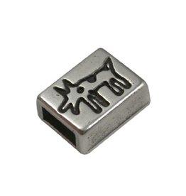 jolie Ls leerschuiver 6mm hondje zilver