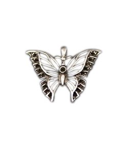 CDQ hanger vlinder 39x32mm zilverkleur