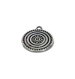 CDQ pendent Family 37mm silver